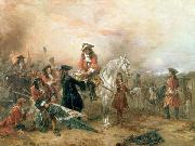 Robert Alexander Hillingford Duke of Marlborough signing the Despatch at Blenheim oil