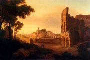 Rudolf Wiegmann Rom, Colosseum and the Roman Forum oil
