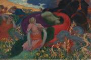 Rupert Bunny The Rape of Persephone oil