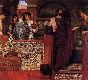 Sir Lawrence Alma-Tadema,OM.RA,RWS Hadrian Visiting a Romano-British Pottery Sir Lawrence Alma-Tadema painting