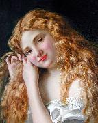 Sophie Gengembre Anderson Young Girl Fixing Her Hair oil painting reproduction