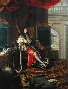 Testelin,Henri Portrait of Louis XIV of France oil on canvas