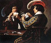 Theodoor Rombouts The Card Players oil