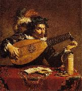 Theodoor Rombouts The Lute Player oil
