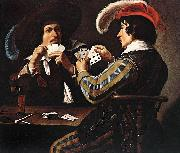Theodoor Rombouts Card Players oil