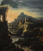 Theodore   Gericault Landscape with an Aquaduct oil painting reproduction