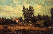 Theodore Fourmois Landscape with farms china oil painting reproduction