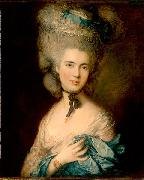 Thomas Gainsborough Woman in Blue oil painting reproduction