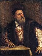 Titian Self portrait. oil painting reproduction