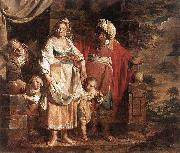 VERHAGHEN, Pieter Jozef Hagar and Ishmael Banished by Abraham painting