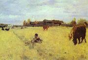 Valentin Serov October. Domotcanovo painting