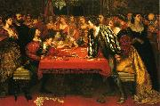 Valentine Cameron Prinsep Prints A Venetian Gaming-House in the Sixteenth Century oil on canvas