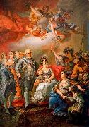Vicente Lopez y Portana King Charles IV of Spain and his family pay a visit to the University of Valencia in 1802 oil on canvas