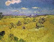 Vincent Van Gogh Wheat Stacks with Reaper oil painting reproduction