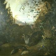 WITHOOS, Mathias Otter in a Landscape painting