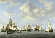 Willem Van de Velde The Younger The Dutch Fleet in the Goeree Straits oil on canvas