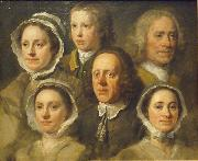 William Hogarth Heads of Six of Hogarth's Servants painting