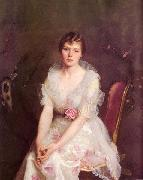 William McGregor Paxton Portrait of Louise Converse china oil painting reproduction