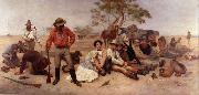 William Strutt Bushrangers, Victoria, Australia, oil painting reproduction