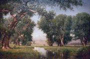 Worthington Whittredge On the Cache La Poudre River, Colorado painting