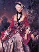 antoine pesne Portrait of Sophie Marie Grafin Voss oil painting reproduction