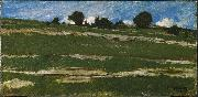 constant troyon Hillside with Rocky Outcrops painting