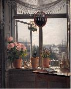 martinus rorbye View from the Artist's Window oil