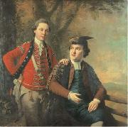 royal academy Double portrait of General Richard Wilford of the British Army and his contemporary Sir Levett Hanson. oil