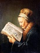 unknow artist Portrait of an old woman reading china oil painting reproduction