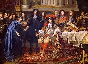 unknow artist Colbert Presenting the Members of the Royal Academy of Sciences to Louis XIV in 1667 oil painting reproduction