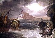unknow artist Oil painting of the East Indiaman painting