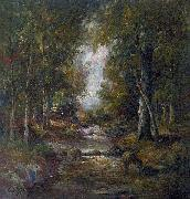 unknow artist River in a forest china oil painting reproduction