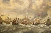 willem van de velde  the younger Episode from the Four Day Battle at Sea, 11-14 June 1666, in the second Anglo-Dutch War painting