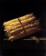 Adriaen Coorte Still-Life with Asparagus oil on canvas