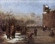Adriaen van de Velde Amusement on the Ice oil painting reproduction