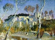 Adrian Scott Stokes Palace of the Popes at Avignon oil on canvas