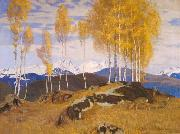 Adrian Scott Stokes Autumn in the Mountains oil on canvas