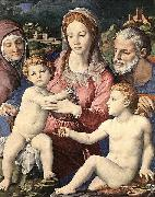 Agnolo Bronzino Holy Family painting