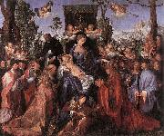 Albrecht Durer Feast of the Rose Garlands oil painting reproduction
