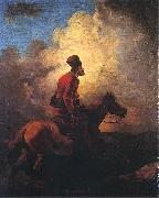Aleksander Orlowski Don Cossack on horse oil on canvas