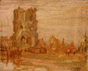 Alexander Young Jackson Cathedral at Ypres, Belgium painting