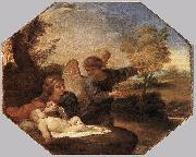 Andrea Sacchi Hagar and Ishmael in the Wilderness painting