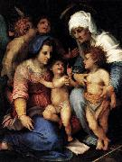 Andrea del Sarto Madonna and Child with St Elisabeth, the Infant St John, and Two Angels oil painting reproduction
