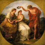 Angelica Kauffmann Beauty Directed by Prudence, Wreathed by Perfection oil painting reproduction