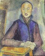 Anita Ree Young Chinese man oil