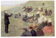 Anna Ancher Mission Meeting at Fyrbakken in Skagen oil painting reproduction