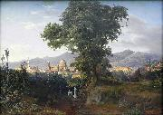 August Ahlborn View of Florenz oil on canvas