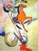 August Macke Heiliger Georg painting
