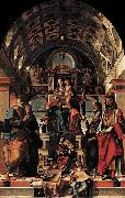 Bartolomeo Montagna Madonna and Child Enthroned with Saints oil painting