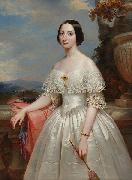 Benoit Hermogaste Molin Painting of Maria Adelaide, wife of Victor Emmanuel II, King of Italy oil on canvas